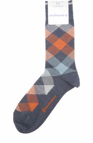 Шерстяные носки Newcastle Burlington. Цвет: темно-серый