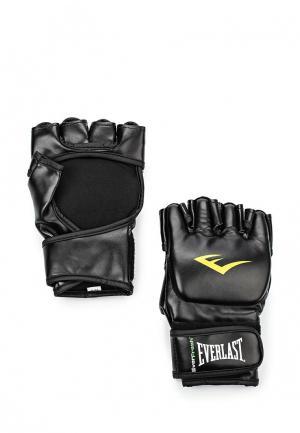 Перчатки ММА Everlast. Цвет: черный