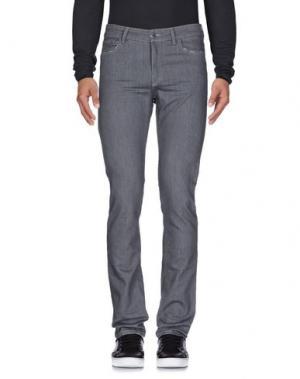Джинсовые брюки COSTUME NEMUTSO. Цвет: свинцово-серый