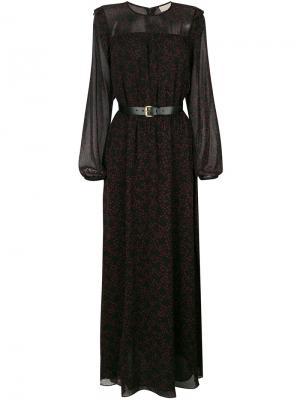 Платье с принтом звезд и длинными рукавами Michael Kors. Цвет: чёрный