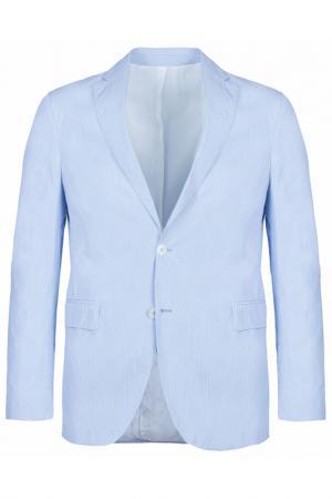 Пиджак Smalto. Цвет: голубой, полоска