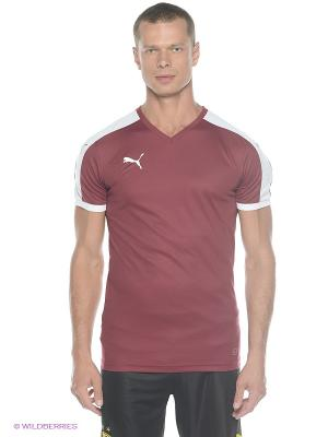 Футболка Pitch Shortsleeved Shirt Puma. Цвет: бордовый