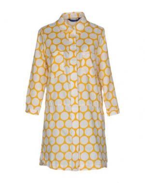 Короткое платье ANONYME DESIGNERS. Цвет: желтый