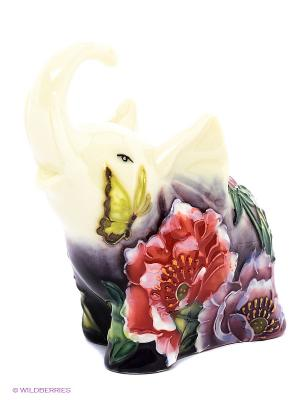 Фигурка Слоник (Pavone) Pavone. Цвет: молочный, красный, зеленый, фиолетовый