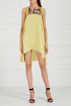 Платье с асимметричным низом Yes London. Цвет: none
