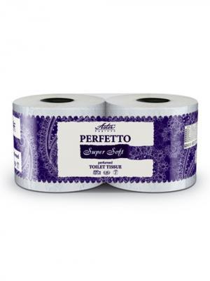 Туалетная бумага Aster Perfetto Super Soft, упаковка  4рул., 4-х сл., 15 уп/кор. Цвет: белый