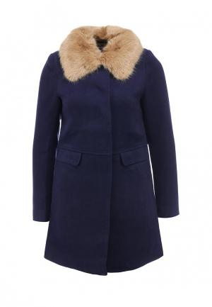 Пальто Louche. Цвет: синий