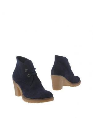 Полусапоги и высокие ботинки GIONATA. Цвет: темно-синий