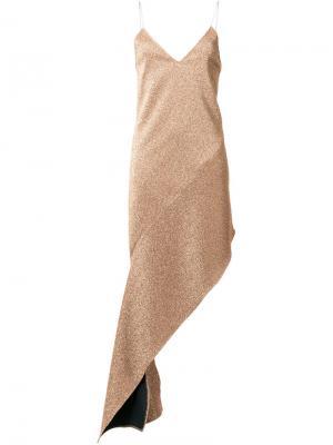 Платье Terry Wanda Nylon. Цвет: металлический