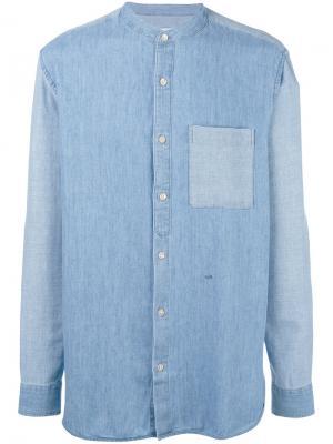 Джинсовая рубашка с узким воротником-стойкой Closed. Цвет: синий