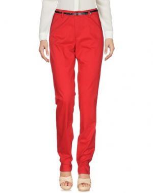 Повседневные брюки BOSS ORANGE. Цвет: красный