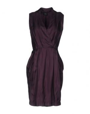 Короткое платье GOTHA. Цвет: темно-фиолетовый