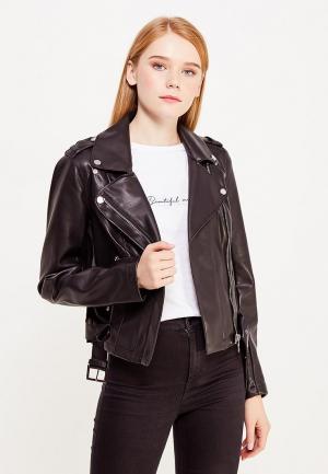 Куртка кожаная Morgan. Цвет: черный
