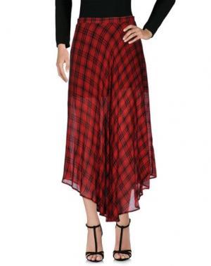 Длинная юбка NINEMINUTES. Цвет: красный
