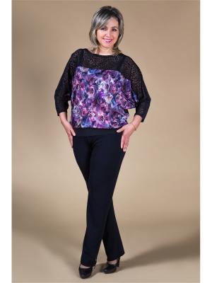 Блуза Милада. Цвет: черный, сиреневый