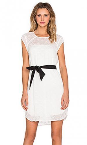 Платье с завязкой IKKS Paris. Цвет: белый