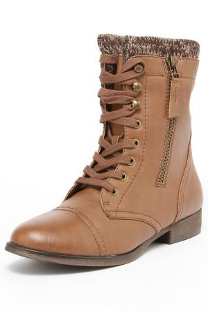 Ботинки Madden Girl. Цвет: коньячный
