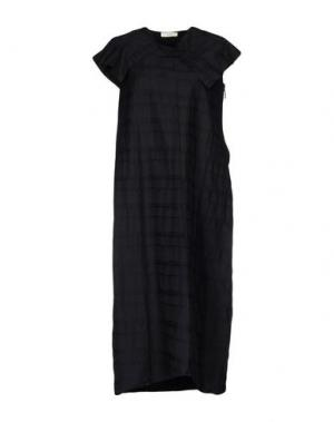 Платье длиной 3/4 MANOSTORTI. Цвет: черный
