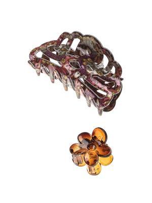 Заколка-краб, 2 шт. Migura. Цвет: коричневый, фиолетовый, розовый, серый