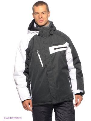 Куртка Baon. Цвет: темно-серый, белый