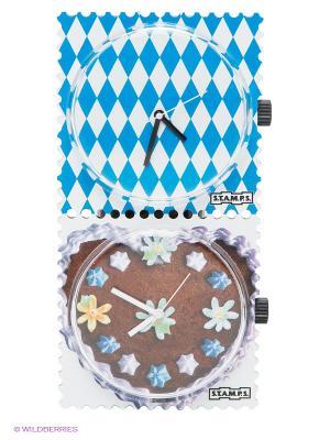 Часы, 2 шт. S.T.A.M.P.S.. Цвет: белый, коричневый, синий