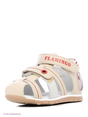 Сандалии Flamingo. Цвет: бежевый