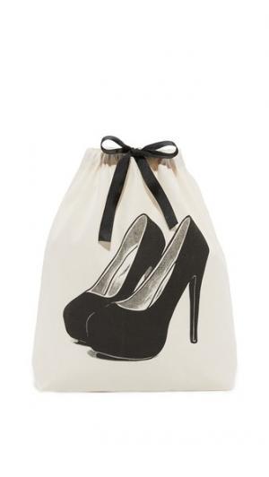 Очаровательная дорожная сумка с изображением туфель на платформе Bag-all