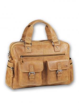Деловой портфель от Greenland Otto. Цвет: коричневый