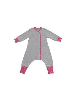 Пижама Bambinizon. Цвет: серый