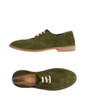 Обувь на шнурках YAB. Цвет: зеленый