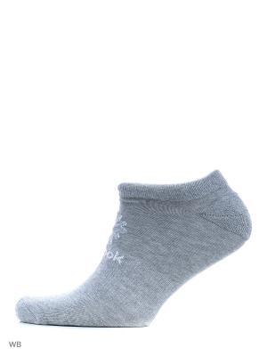 Носки Reebok. Цвет: серый, розовый, белый