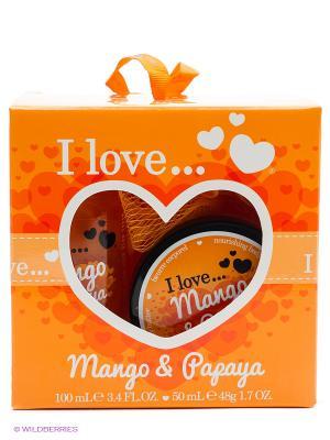 Подарочный набор для ванны I love Манго Папайя Love.... Цвет: оранжевый