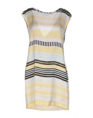 Короткое платье TROU AUX BICHES. Цвет: светло-желтый