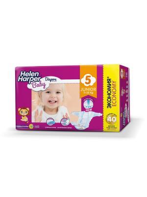 Helen HARPER Подгузники детские Baby Junior 11-25кг 40шт. Цвет: темно-фиолетовый