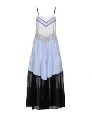 Длинное платье TWIN-SET Simona Barbieri. Цвет: лазурный