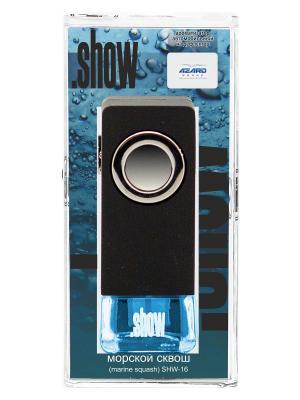 Ароматизатор в дефлектор Show Морской сквош AZARD. Цвет: черный