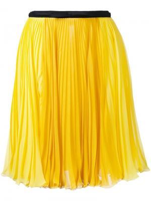 Плиссированная юбка Giambattista Valli. Цвет: жёлтый и оранжевый