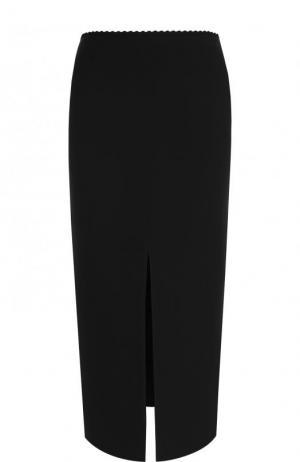 Однотонная юбка-миди с высоким разрезом Proenza Schouler. Цвет: черный