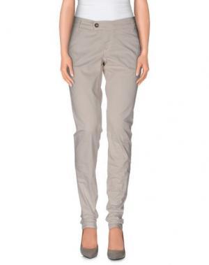 Повседневные брюки MELTIN POT. Цвет: светло-серый