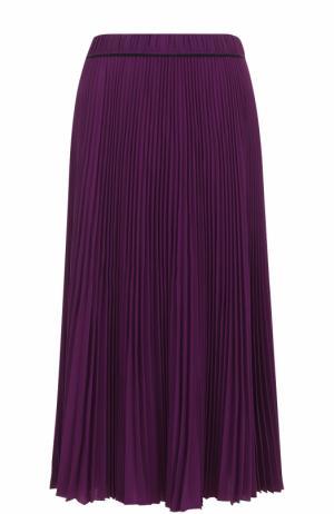 Плиссированная юбка-миди Marc Jacobs. Цвет: фиолетовый