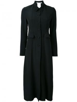Длинное пальто на пуговицах Cherevichkiotvichki. Цвет: чёрный