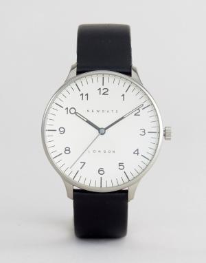 Newgate Часы с кожаным ремешком Blip. Цвет: черный