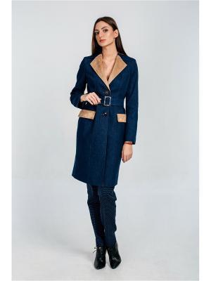 Пальто Exalta. Цвет: синий