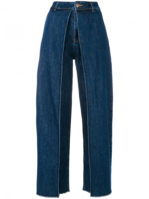 High waisted flared jeans Aalto. Цвет: синий