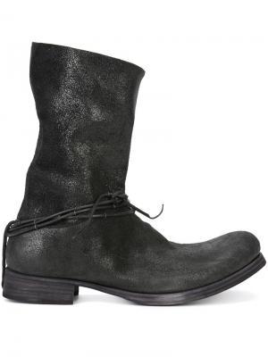 Серебристые ботинки Ma+. Цвет: чёрный