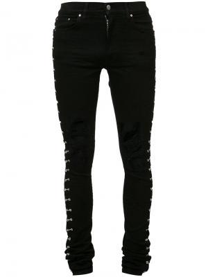 Ripped knees skinny jeans Amiri. Цвет: чёрный