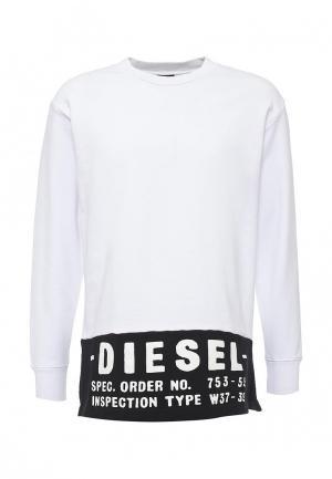Свитшот Diesel. Цвет: белый