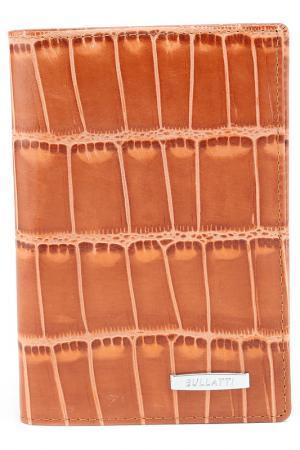 Обложка для документов Bullatti. Цвет: коричневый