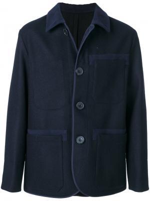 Collared casual jacket Cini. Цвет: синий