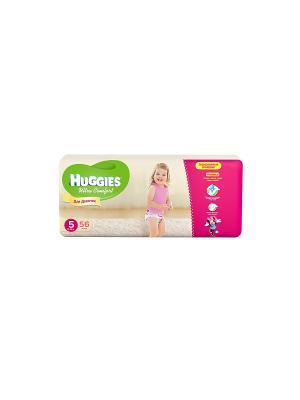Подгузники Ultra Comfort Размер 5 12-22кг 56шт для девочек HUGGIES. Цвет: розовый